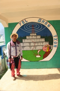 Rosendo Pablo, founder of Radio Xob'il Yol Qman Txun, stands in front of the station. Pablo founded the radio after returning to Todos Santos from the United States. (Photo by: Brenna Goth)
